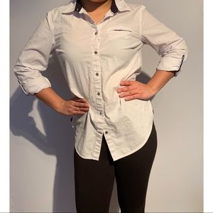 Tommy Hilfiger sleeve button down blouse